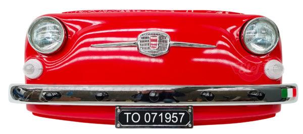 Déco vintage face avant fiat 500 rouge