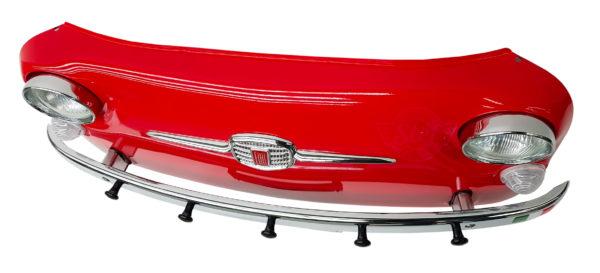 Déco vintage porte manteaux fiat 500 rouge