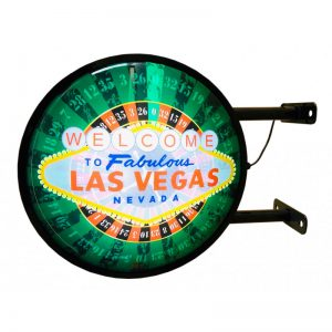 Las Vegas Double-sided led sign diameter 40 cm