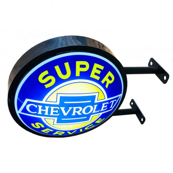 Chevrolet service double-sided sign
