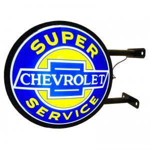 Chevrolet service double-sided illuminated sign