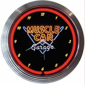 horloge-neon-muscle-car