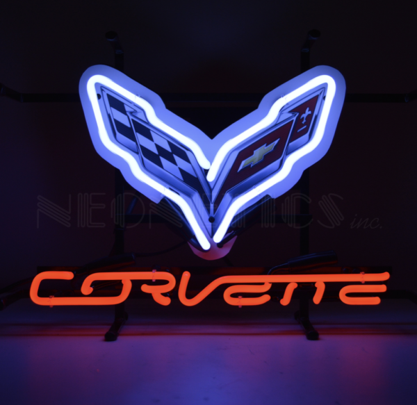enseigne néon chevrolet corvette