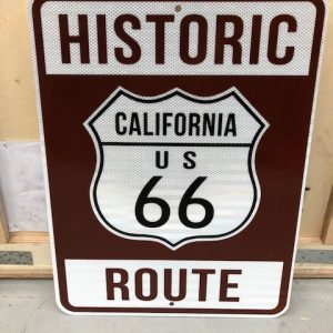 American Road Sign Route 66 California
