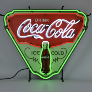 Enseigne neon coca cola ice cold