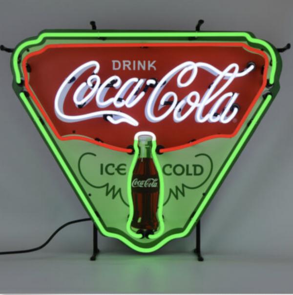 Enseigne neon coca cola ice cold