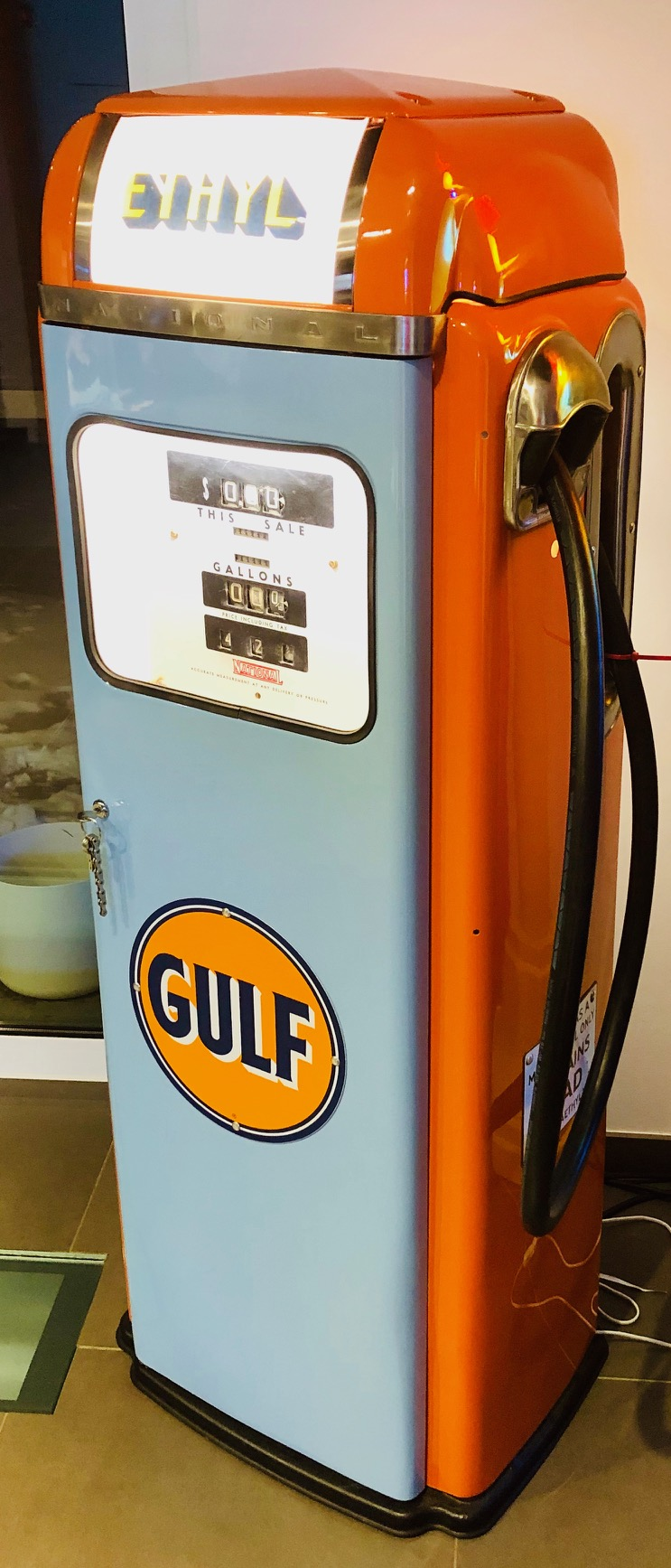 Gulf Vintage American Gas Pump Usa Decoration Stefvintagestore