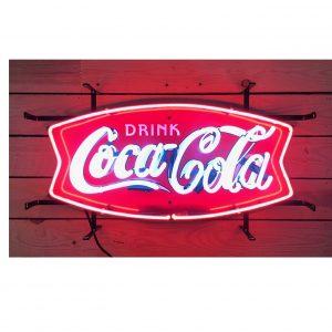 enseigne neon coca cola fishtale
