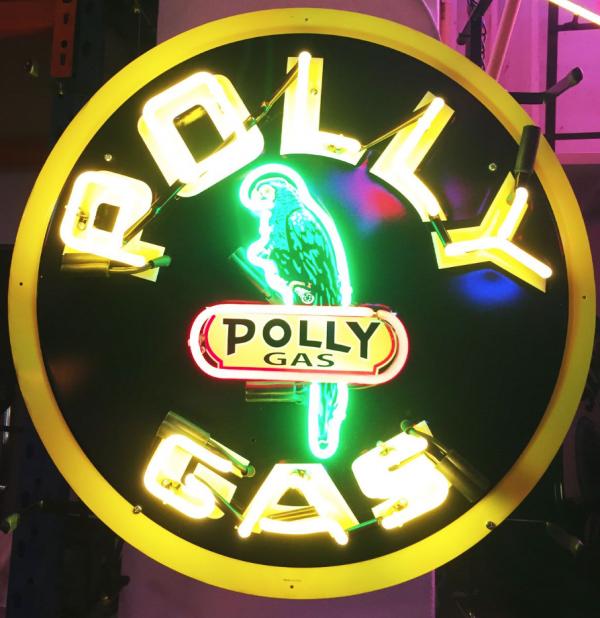 enseigne neon pollygas