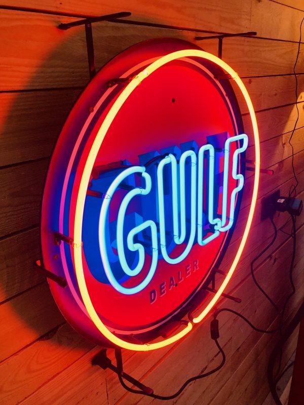 Gulf vintage neon sign