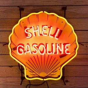Shell vintage neon sign