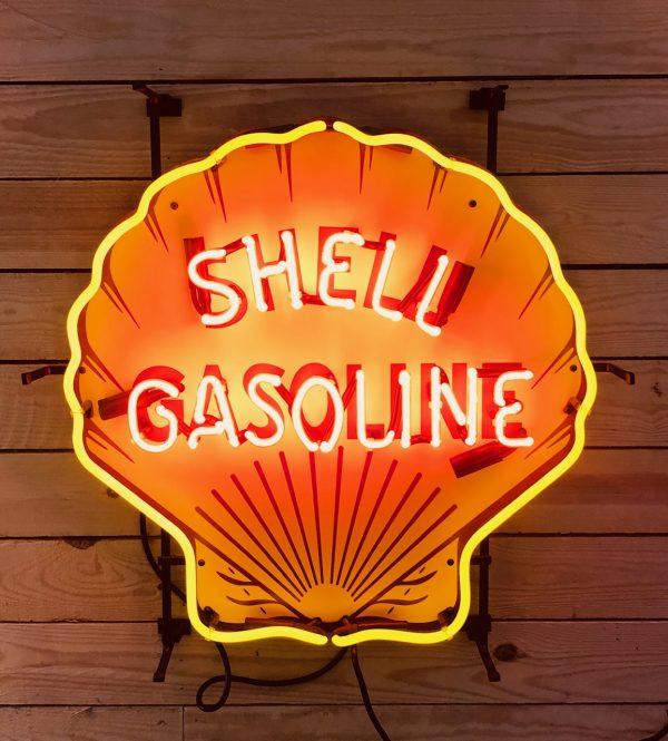 enseigne neon retro shell