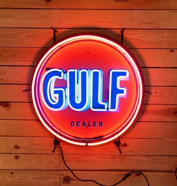 enseigne neon vintage gulf