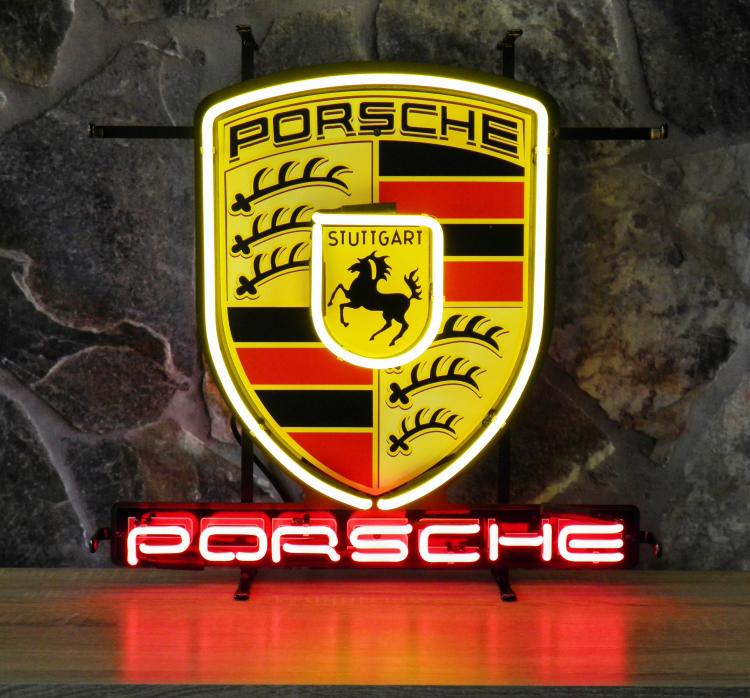 Neon Sign Porsche 55 X 57 Cm