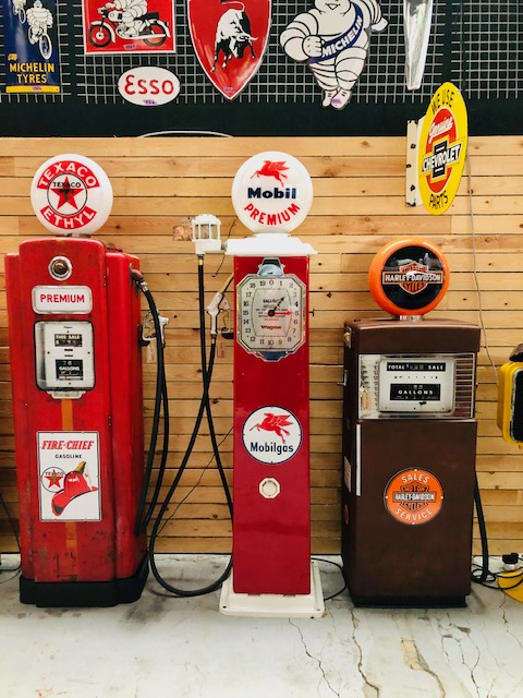 Vintage American gas pump Mobilgas