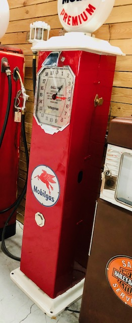 old American gas pump