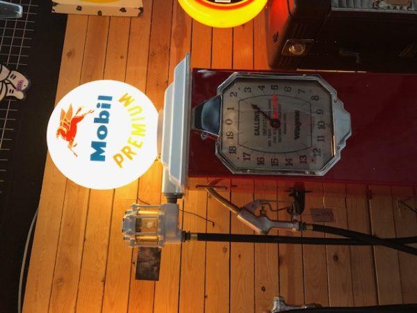 Genuine American gas pump mobilgas