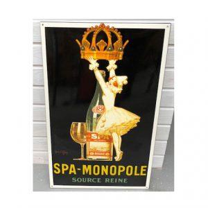 plaque émaillée spa monopole