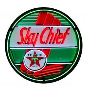 enseigne néon Texaco sky chief 60 cm