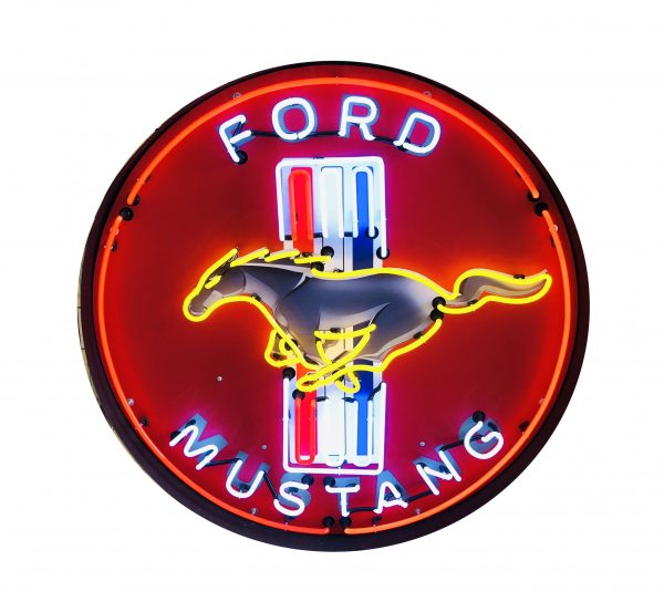 enseigne neon ford mustang 60 cm