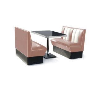 Bel air Diner bench classic diner Pink
