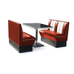 Bel air Diner Bench classic diner 120cm