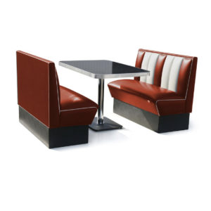 Bel air banquette Classic Diner ruby