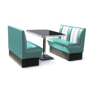 Bel air classic Diner Bench turquoise