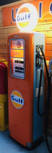 pompe essence américaine Gulf ERIE