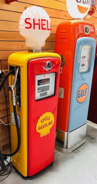 ancienne pompe essence shell gilbarco