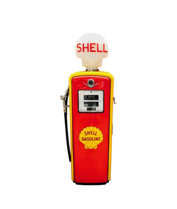 Pompe à essence Shell américaine de 1950 restaurée