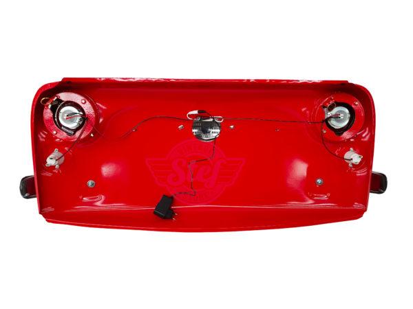 Déco Vintage calandre fiat 500 rouge Décoration murale