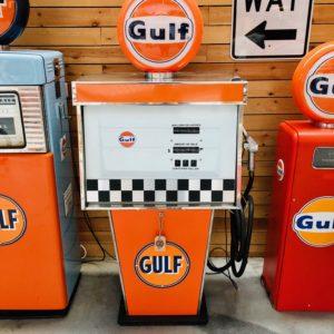 pompe à essence Gulf Tokheim de 1970