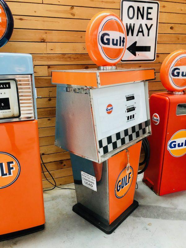Gulf Tokheim vintage gas pump