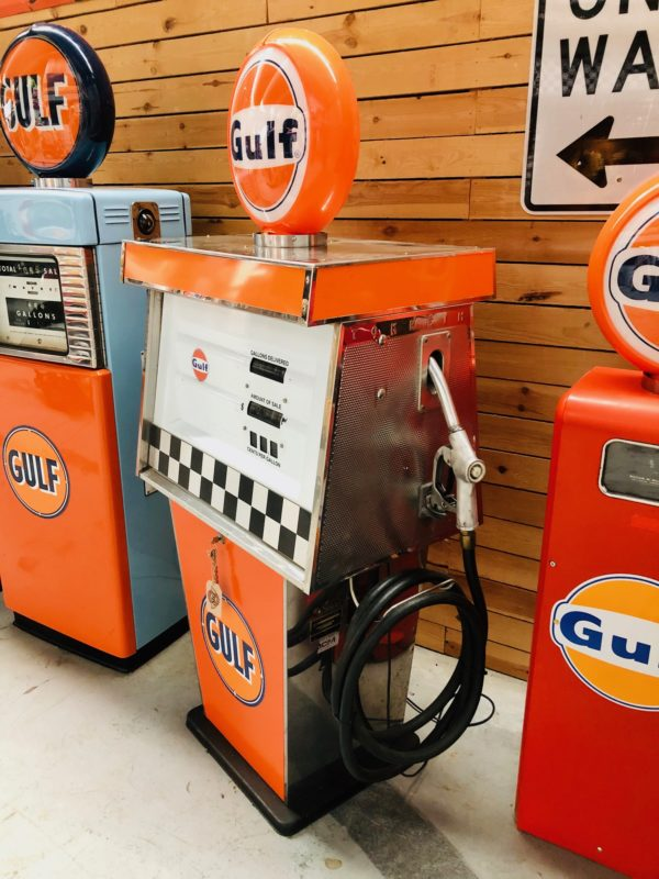 Gulf vintage gas pump