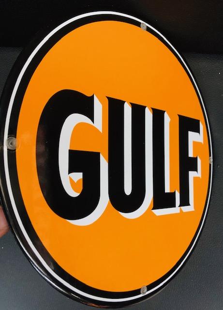 Plaque émailée gulf 30cm