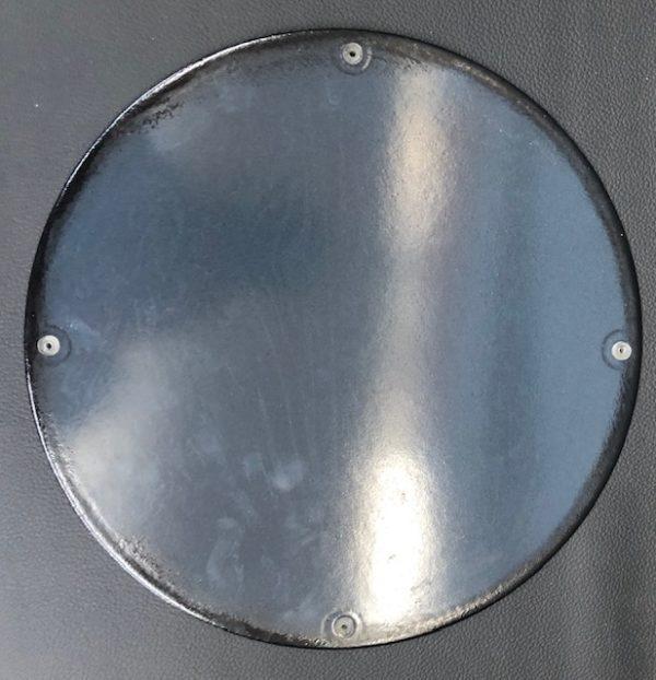 ancienne Plaque émailée gulf 30 cm
