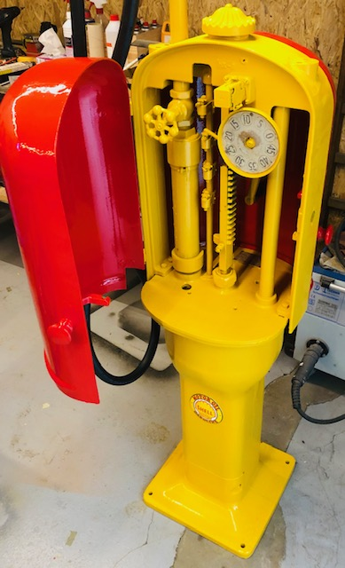 ancienne pompe essence g&b
