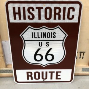 signalisation usa vintage historic route 66