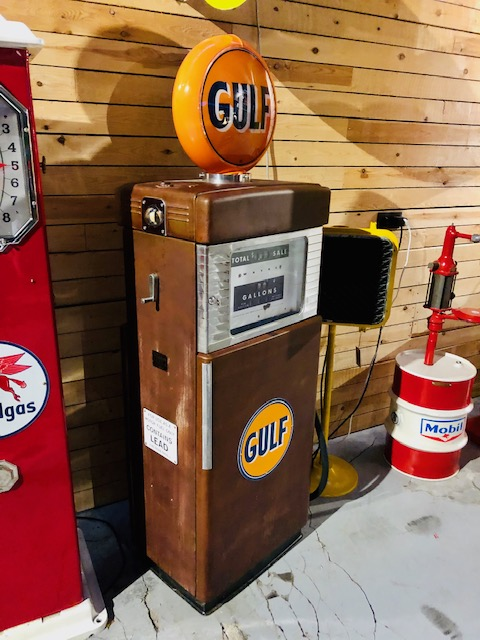Pompe essence américaine gulf