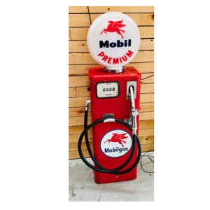 ancienne pompe essence mobilgas