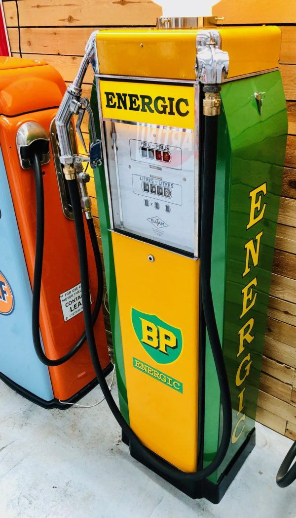 ancienne pompe essence satam bp