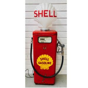 Shell vintage gas pump (Tokheim)