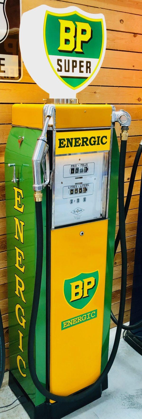 ancienne pompe essence vintage bp