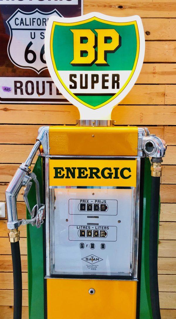 ancienne pompe essence vintage satam