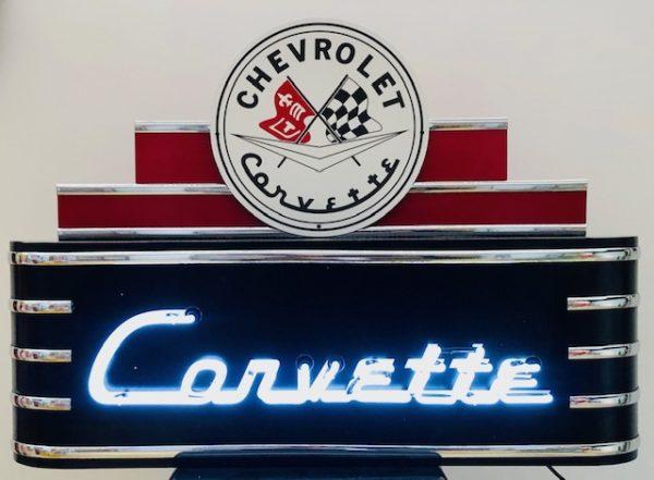 enseigne néon rétro Corvette