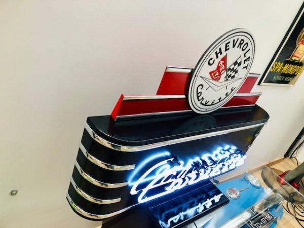 enseigne néon rétro Corvette USA