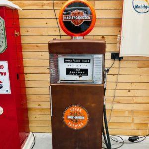 pompe essence vintage Harley davidson