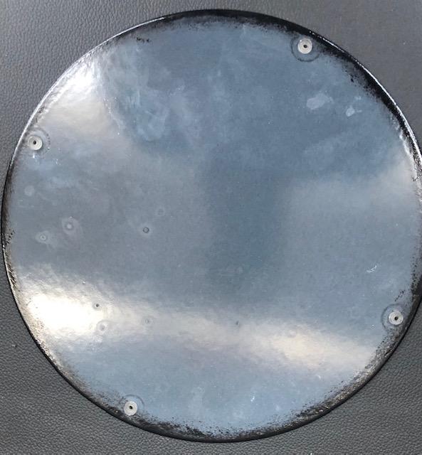 Plaque émailée texaco 30cm