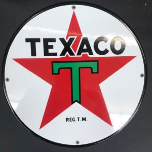 Plaque émailée texaco pompe essence